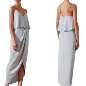 Shona Joy Luxe Frill Maxi Dress in Cloud Blue 6